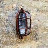 Admiral Small Oval Wall Light Antique Copper