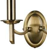 Ambassador Double Wall Bracket Antique Brass