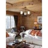Antler 3 Light Highland Rustic Fitting Complete with Shades