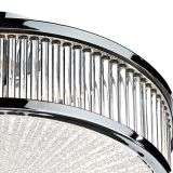 Aramis 3-Light Polished Chrome And Glass Flush Fitting