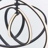 Avali 4 Light Hoop Pendant in Matt Black Finish 30.7W Warm White