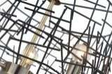 Bambu 3 Light Black Metal Pendant Antique Brass