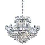 Bloomsbury 6  Light Crystal Tiered Chandelier, Chrome, Clear Crystal Deco