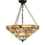 Clematis Large Inverted 3 Light Pendant 60W