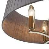 Cristin 4 Light Pendant in Polished Nickel with Grey Ribbon Shade