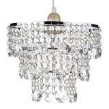 Cybil Non-Electric Polished Chrome And Crystal Pendant  | Online Lighting Shop