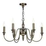Dickens 6 Light Pendant Bronze