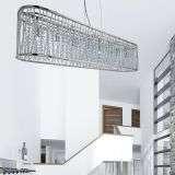 Elise 8  Light Oval Ceiling, Aluminimum Tubes Trim, Chrome