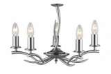 Elka 5-Light Satin Chrome Fitting