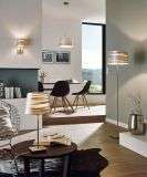 Fonsea 1 Light Floor Lamp in Satin Nickel