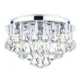 Fringe 4 Light Flush Polished Chrome IP44