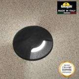 Fumagalli ALDO1LBL Aldo Round 1 Light Black Walkover or Recessed Wall Light