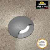 Fumagalli ALDO1LGY Aldo Round 1 Light Grey Walkover or Recessed Wall Light