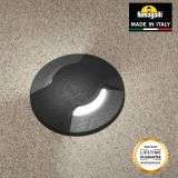 Fumagalli ALDO2LBL Aldo Round 2 Light Black Walkover or Recessed Wall Light