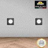 Fumagalli ALDOSQBL Aldo Square Black 1.7W Walkover or Recessed Wall Light