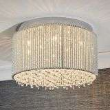 Galina 10 Light Crystal Flush Fitting in Chrome