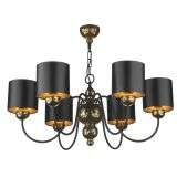 Garbo 6 Light Pendant Bronze complete with Black Bronze Shades
