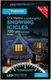 PREMIER LIGHTING LV162185W 720 White LED Icicles with Timer