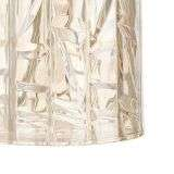 Whiskey Amber Cut Glass Table Lamp c/w Shade
